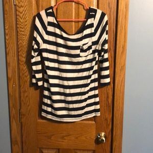 Tops - Navy and white stripped 3/4 sleeve adorable